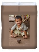 Hmong Boy Duvet Cover by Adam Romanowicz