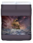 H.m.s Victory Duvet Cover by Jean Walker
