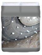 Hoarfrost On Tire Duvet Cover