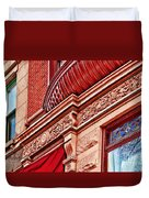 Hoboken Brownstone Art Duvet Cover