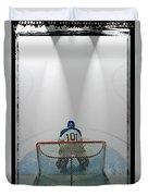 Hockey Goalie In Crease Duvet Cover