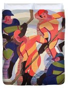 Hockey Players Duvet Cover by Ernst Ludwig Kirchner