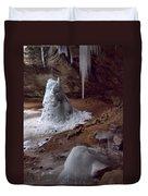 Hocking Hills Park Frozen Duvet Cover