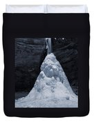 Hocking Hills State Park In Winter Duvet Cover