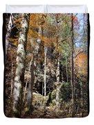 Hocking Hills Trees Duvet Cover