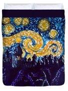 Hogwarts Starry Night Duvet Cover by Jera Sky