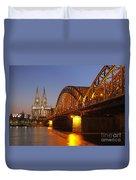 Hohenzollernbrucke In Cologne Duvet Cover