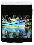 Hoi An Fishing Boat 01 Duvet Cover