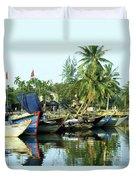 Hoi An Fishing Boats 01 Duvet Cover