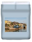 Hoi An Fishing Boats 03 Duvet Cover