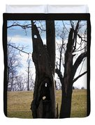 Holey Tree Trunk Duvet Cover