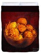 Holiday Citrus Bowl  Duvet Cover