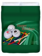 Holiday Golf Duvet Cover