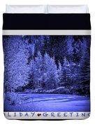 Holiday Greetings - Vail - Colorado Duvet Cover