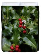 Holiday Holly Duvet Cover