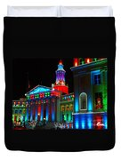 Holiday Lights 2012 Denver City And County Building A1 Duvet Cover