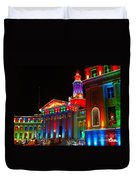 Holiday Lights 2012 Denver City And County Building B2 Duvet Cover