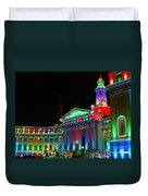 Holiday Lights 2012 Denver City And County Building C1 Duvet Cover