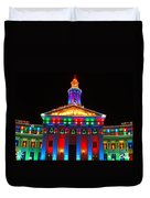 Holiday Lights 2012 Denver City And County Building D3 Duvet Cover