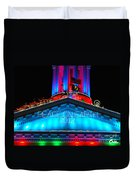 Holiday Lights 2012 Denver City And County Building E3 Duvet Cover