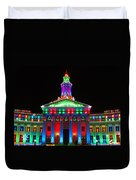 Holiday Lights 2012 Denver City And County Building G1 Duvet Cover