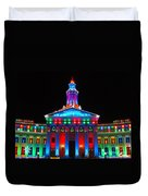 Holiday Lights 2012 Denver City And County Building G2 Duvet Cover