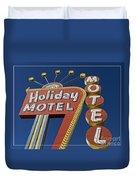 Holiday Motel Las Vegas Duvet Cover by Edward Fielding