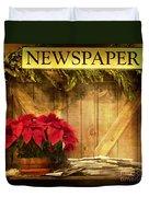 Holiday News Duvet Cover