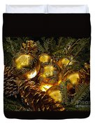 Holiday Ornaments Duvet Cover