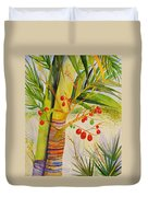 Holiday Palm Duvet Cover