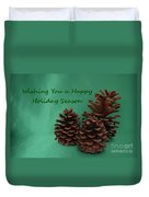 Holiday Pine Cones Duvet Cover