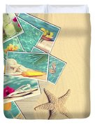 Holiday Postcards Duvet Cover