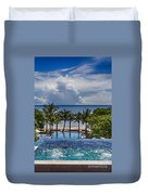 Holiday Resort With Jacuzzi And Pool Duvet Cover