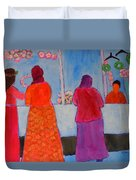 Holiday Shoppers On Prince Island Duvet Cover