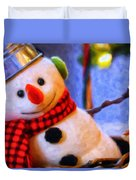 Holiday Snowman Duvet Cover