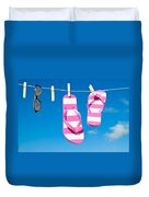 Holiday Washing Line Duvet Cover by Amanda Elwell