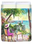 Holidays In Saint Martin Duvet Cover