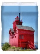 Holland Harbor And Big Red Duvet Cover