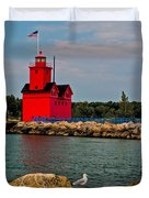 Holland Harbor Light Duvet Cover