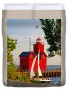 Holland Lighthouse Duvet Cover