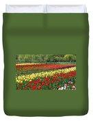 Holland Tulip Fields Duvet Cover