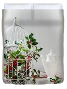 Holly And Berries Birdcage Duvet Cover