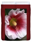 Hollyhock Flower Duvet Cover