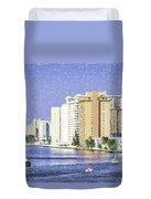 Hollywood In Florida Duvet Cover
