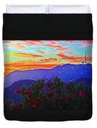 Hollywood Sunset Duvet Cover