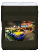 Hollywood Taxi Duvet Cover