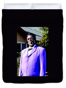 Hollywood Wearing His Dress Suit And Bow Tie Color Photo Usa Duvet Cover