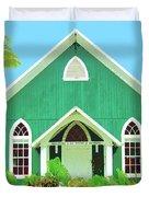 Holuoloa Church Duvet Cover