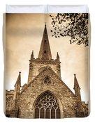 Holy Trinity Stratford On Avon Sepia Duvet Cover