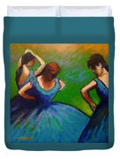 Homage To Degas II Duvet Cover by John  Nolan